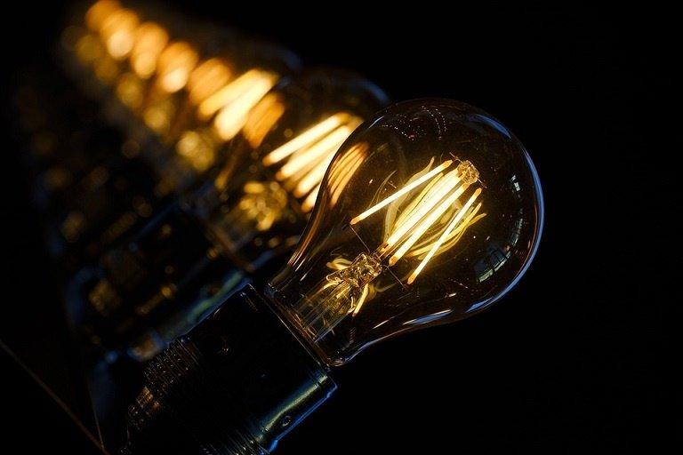 Row of lightbulbs